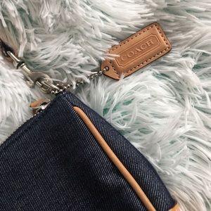 Coach Classic Denim leather trim purse